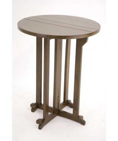 Table ronde console hévéa D60