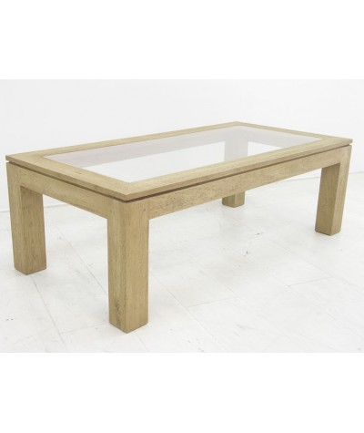 Table basse hévéa plateau...