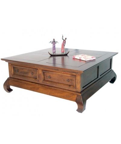 Table basse hévéa 4 tiroirs...