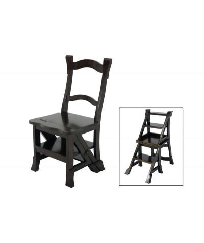Chaise hévéa escabeau...