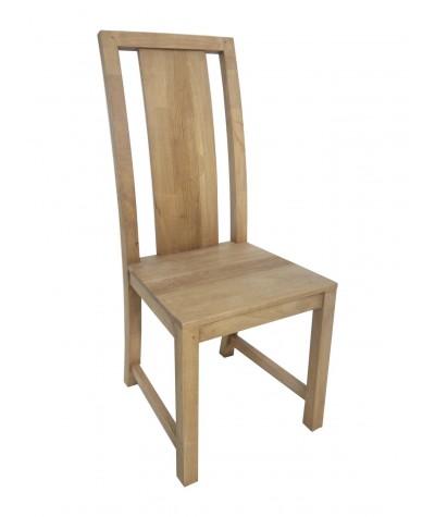 Chaise hévéa Rainures...