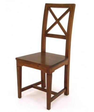 Chaise hévéa Croisillon...