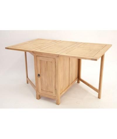 Table console Rect. hévéa...