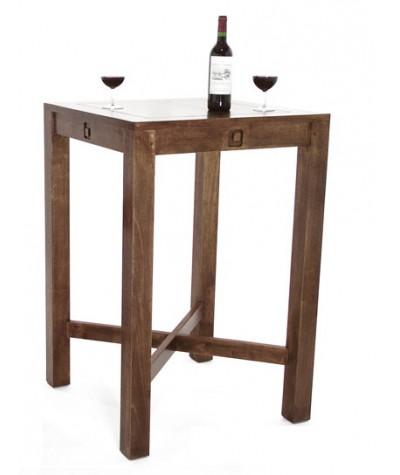 Table bar Hévéa fixe 70/70...
