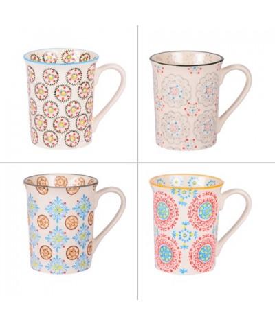 Coffret Boheme 4 Mugs