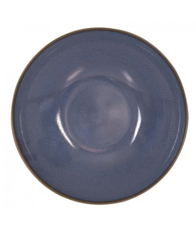 Assiette à pâtes bleu