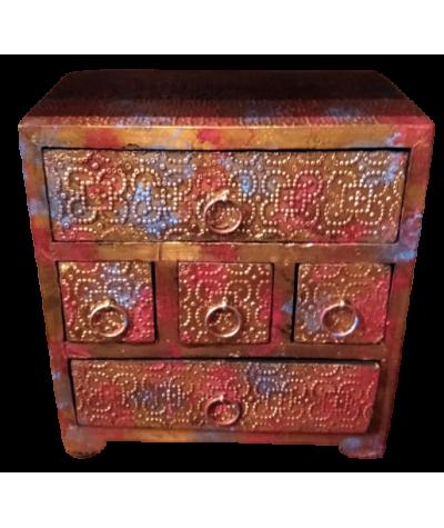 Mini meuble Bois (5 Tiroirs)