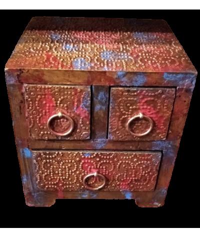 Mini meuble Bois (3 Tiroirs)