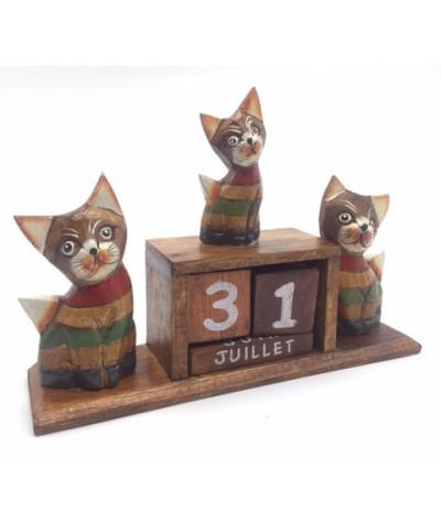 Calendrier 3 chats couleur