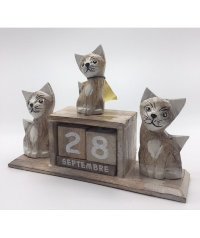 Calendrier 3 chats pastel