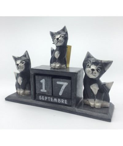 Calendrier 3 chats gris