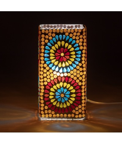 Lampe mosaïque verre 16165