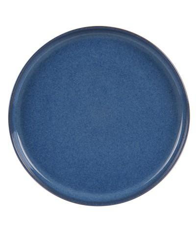 Assiette plate bleu cobalt 26