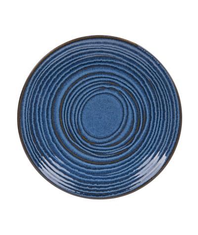 Assiette plate moon bleu 27