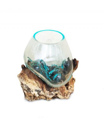 Vase verre soufflé sur...